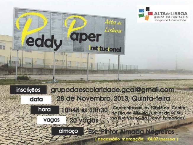 CARTAZ Peddy Paper Alta Lisboa 28.nov.13
